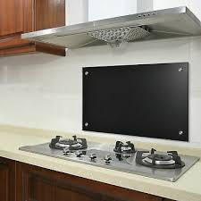 spritzschutz glas 40 x 60 cm schwarz glasrückwand küche herd