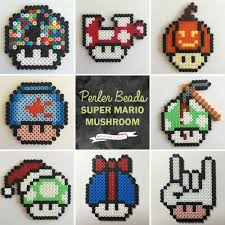 Halloween Hama Bead Patterns by Parlplattor Super Mario Svampar Perler Beads Mario Mushroom 3