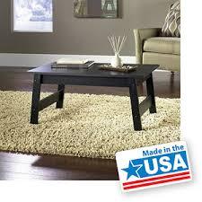 mainstays coffee table black oak finish 19 walmart bedroom