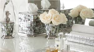 Gray Yellow And White Bathroom Accessories by Shop Luxury U0026 Decorative Bath Accessories Dispensers And Tumblers