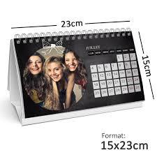 calendrier de bureau personnalisé calendrier photo personnalisé de bureau 15x23cm