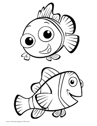 Nemo Finding Coloring Page Disney Pages Color Plate Sheet