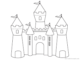 Gorgeous Ideas Castle Coloring Pages To Download And Print For Free