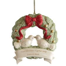 First Christmas Together Wreath Ornament Ornaments