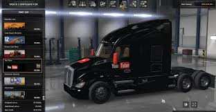 99 Youtube Truck Kenworth T680 YouTube Skin American Simulator Mod ATS Mod