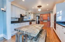 wood light walls kitchen with light blue painted walls white