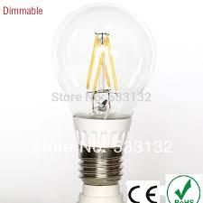 free ship dimmable 5w led ls led filament bulb 2pcs lot led e27