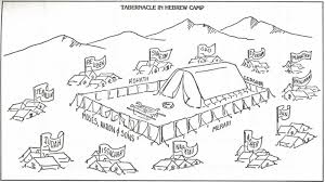 Tabernacle Coloring Page For Young Kids