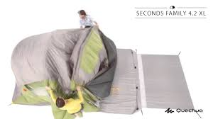 tente 4 places 2 chambres seconds family 4 2 xl quechua quechua seconds family 4 2 xl tent