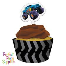 Monster Truck Mudslinger Cupcake Wrapper With Cupcake Topper 12 Pack ... Personalised Monster Truck Edible Icing Birthday Party Cake Topper Buy 24 Truck Tractor Cupcake Toppers Red Fox Tail Tm Online At Low Monster Trucks Cookie Cnection Grave Digger Free Printable Sugpartiesla Blaze Cake Dzee Designs Jam Crissas Corner Cake Topper Birthday Edible Printed 4x4 Set Of By Lilbugspartyplace 12 Personalized Grace Giggles And Glue Image This Started