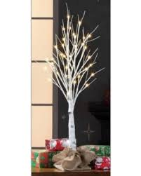 Holiday Time Pre Lit LED Birch Tree White Color Lights 3