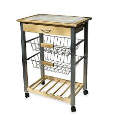 Rolling Kitchen Cart with Two Baskets Bed Bath & Beyond