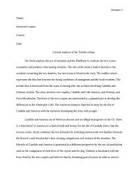 Tortilla Curtain Pdf Download by Literary Analysis Example Literary Analysis Essay Format Critical
