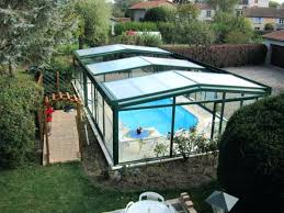 Plexiglass Pool Cover Rental Prices Enclosure Glass Covered Swimming Pools