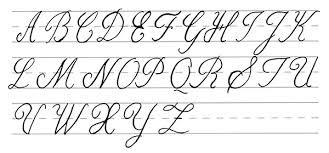 Cursive Letters Capital