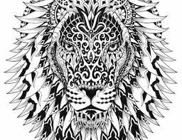 Adult Coloring Pages Lion 4
