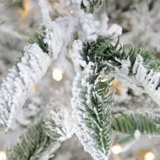 Pre Lit Flocked Artificial Christmas Trees by Northlight 7 5 U0027 Pre Lit Noble Fir Flocked Artificial Christmas