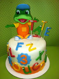 Tate s Leapfrog Letter Factory Cake Tate loves Tad and the