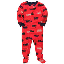 Carter's Toddler Boy's Fleece Sleeper Pajamas - Fire Trucks