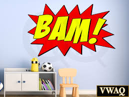 Superhero Wall Decor Stickers by Comic Book Sound Effect Wall Decal Bam Sound Effect Wall Art