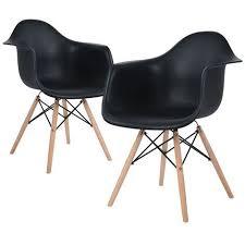 2er esszimmerstuhl lounge kunststoff stuhl metallrahmen pp strapazierfähig bequem schwarz
