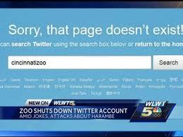 Cincinnati Zoo Halloween by Cincinnati Zoo Deletes Twitter Account After Online Harambe Abuse