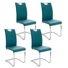 mca furniture schwingstuhl köln mit griff kunstlederbezug farbe petrol blau gestell rundrohr freischwinger für küche und esszimmer