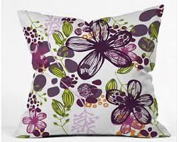 Plum throw pillow