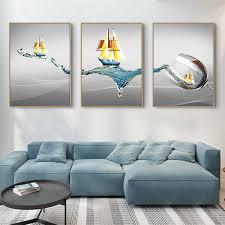 moderne minimalistischen segeln wein glas kunst leinwand