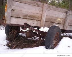 Old Farm Machinery Abandoned Trailer