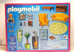 playmobil dollhouse wohnzimmer mit kaminofen 5308 in box