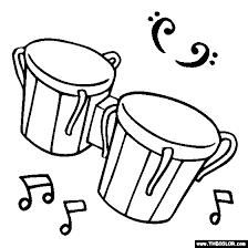 Bongo Drums Coloring Page
