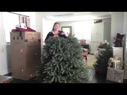 Balsam Hill Christmas Trees Complaints by Balsam Hill Blue Spruce Flip Tree Youtube
