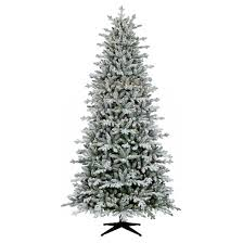 Pre Lit Flocked Christmas Tree by 9ft Prelit Full Artificial Christmas Tree Flocked Balsam Fir Clear