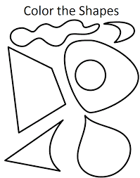 Color The Shapes Coloring Pages