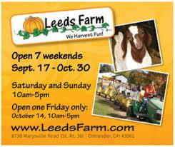 Leeds Pumpkin Patch Columbus Ohio by Two More Weekends Of Pumpkin Farm Fun At Leeds Farm Macaroni Kid
