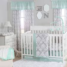 Amazon Com 4 Piece Baby by Amazon Com Grey Damask And Mint Green 4 Piece Baby Crib Bedding