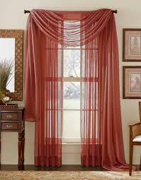 Black Sheer Curtains Walmart by Stylemaster Elegance Sheer Curtain And Scarf Panels U2013 Cranberry
