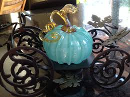 Gold Pumpkin Carriage Centerpiece by My Hand Blown Glass Pumpkin By Walker And Bowes That I Purchased