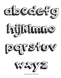 Pop Up Letters Alphabet Coloring Pages Uppercase And Lowercase Download A Z Lower Preview E1362226327168