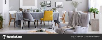 Panorama Blanket Armchair Chairs Dining Table Grey Living ...