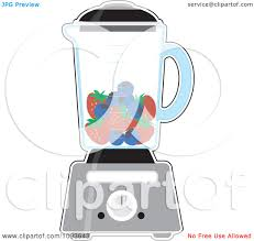 Clipart Kitchen Blender With Blueberries And Strawberries For A Smoothie