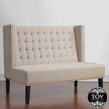 Halifax Beige Linen Banquette Bench | Tov Furniture ... Ding Banquette Bench With Storage Upholstered How To Build Seating Howtos Diy Room Classy Small Igf Usa Kitchen Design Adorable Corner Nook Set Gorgeous 59 Booth Table Round Lawrahetcom Modern Rectangular Brown Full Size Of Benchcurved Awesome Chest Banquette Bench Images
