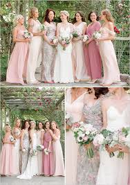 Blush Mismatched Bridesmaid Dresses Blushbridesmaids Weddingchicks