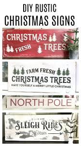 How To Make DIY Rustic Christmas Signs Homeroad