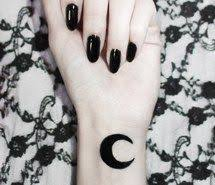 Pastel Goth Alternative Grunge Crescent Moon Tattoo Drawing