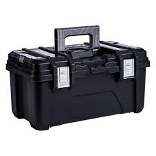 Husky 22 In. Plastic Tool Box With Metal Latches In Black-235577 ...