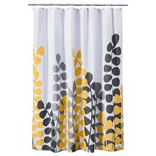 Yellow And White Curtains Target by Vine Shower Curtain Yellow Gray Room Essentials Target