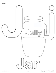 Uppercase And Lowercase Letter Jj Coloring Page