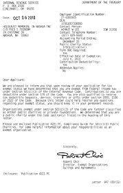 IRS 501 c 3 Tax Exempt Determination